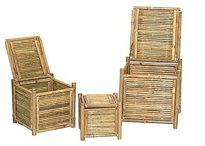 Bamboo 54 Set of 3 Bamboo Boxes 5879  New