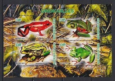 GR2 - Bloc feuillet Neuf ** MNH - Tchad 2011 - Grenouilles Frogs