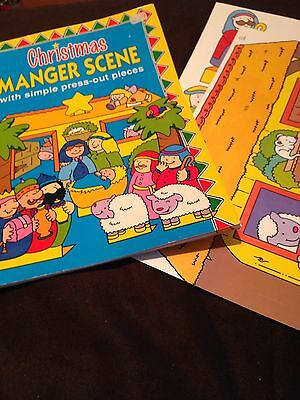 Xmas Colouring Book & Pop Out Manger Scene