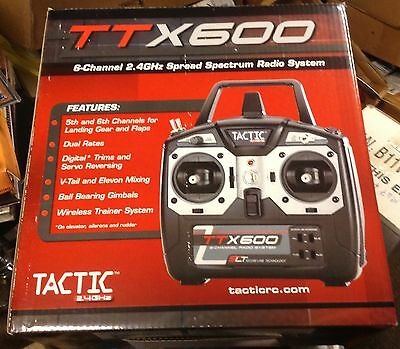 Tactic TTX600 6-Channel 2.4GHz Spread Spectrum Radio System New in the Box