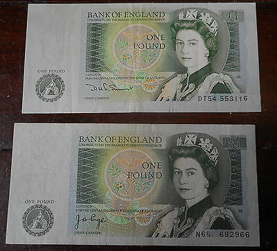Great Britain 1978  ONE Pound  Note Page,   Somerset