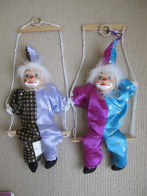 NEW CLOWN PUPPET Marionette String Doll Kids Pretend Play Toy