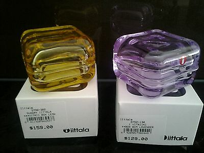 Iittala Hand Made Glass Boxes, Jewerlly, Pills, New