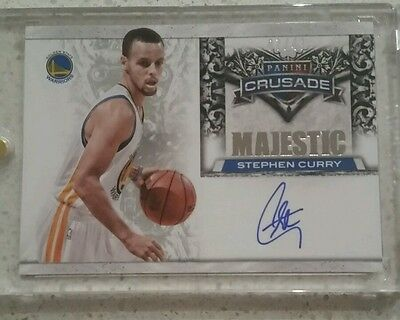 Stephen Curry Crusade 13/14 on card auto 07/49 Golden State Warriors NBA MVP