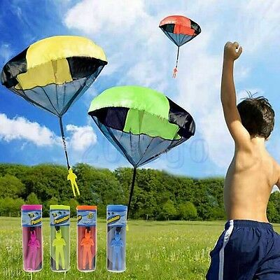 Kids Children Tangle Free Toy Hand Throwing Parachute Kite Outdoor Play Game YG