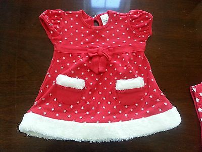Christmas Baby girls dress size 0 6-12 months Xmas festive
