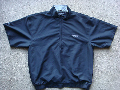 Mens Ping Short Sleeved Windproof Golf Top. Black. Size Large.