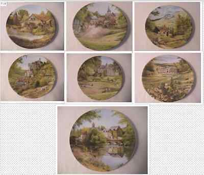 Set of Limoges Collector Plates. (7). By Michel Juhen.