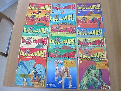 Dinosaur Magazines 1-38 by Orbis Play & Learn plus 3d Glasses and swap cards