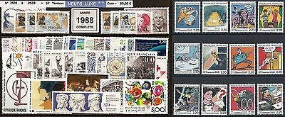 FRANCE Année COMPLETE 1988 - NEUF ** LUXE - 57 Timbres