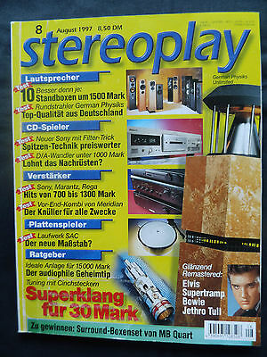 STEREOPLAY 8/97 GERMAN PHYSICS,JAMO 477a,MISSION 433i,ELAC EL 91 S2,CANTON 630DC