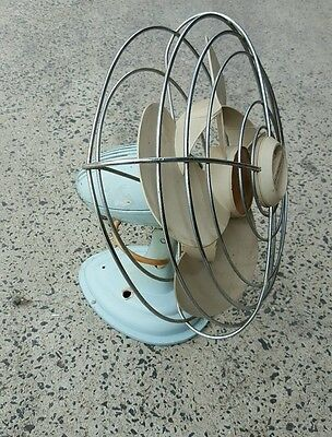 Retro Table Fan westinghouse CUT CORD DISPLAY ONLY 300mm has some battle wounds