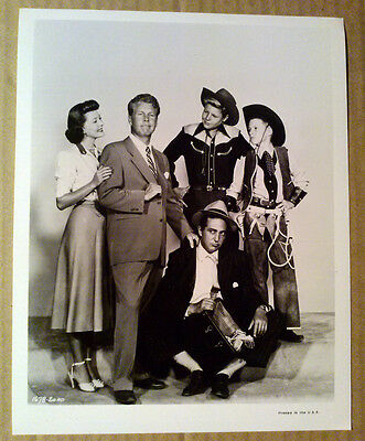 8x10 Photo~ Ozzie & Harriet Nelson ~David & Ricky Nelson ~Sheldon Leonard