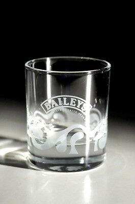 2 x (TWO) BAILEYS ETCHED GLASS TUMBLERS - FREE UK POSTAGE