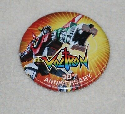 SDCC 2014 EXCLUSIVE VOLTRON 30th ANNIVERSARY BUTTON