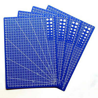 A4 Cutting Craft Mat Printed Line Grid Scale Plate Knife Leather Paper BoardSWUK