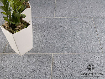 BEAUTIFUL 600x900mm Natural MIDNIGHT-GREY GRANITE Paving | Single Size Patio Kit