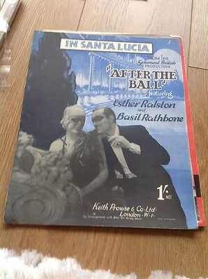"""In Santa Lucia - From """"After The Ball """" Vintage Sheet Music"""