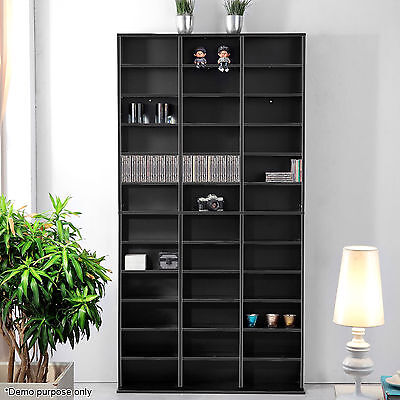CD/DVD Storage Shelf Bluray Media Stand Book Cupboard Rack Unit Shelves