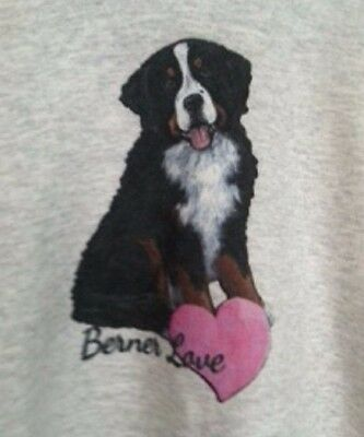 Bernese Mountain Dog UNISEX ULTIMATE COTTON HANES HOODIE LARGE by Amy Bolin