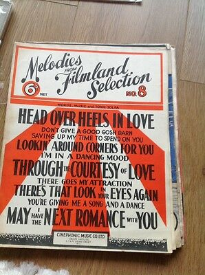 Melodies From Film land Selection No 8 - Vintage Sheet Music