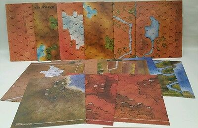 x24 Classic Battletech Hex Maps. x6 Card and x18 paper