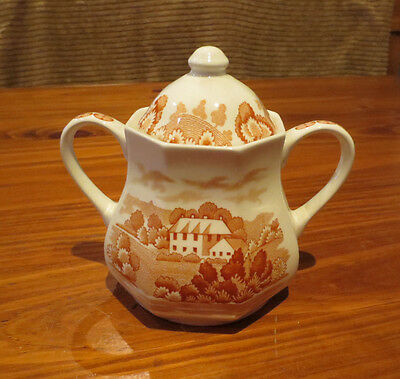 """ROYAL STAFFORDSHIRE """"SHANTUNG"""" POT WITH LID -  J & G Meakin"""