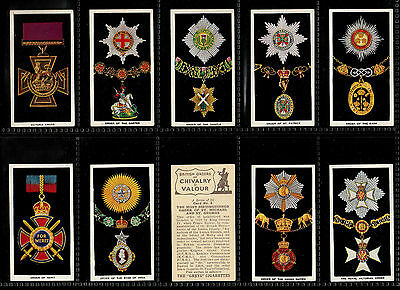 "U.k.t.1936 Superb ( Medals ) 25 Card Set "" British Orders Of Chivalry & Valour """