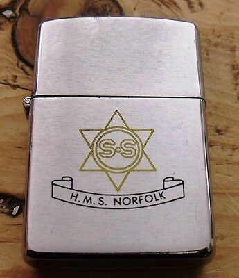 1979 Hms Norfolk Group 8 Deployment 1979 Zippo Lighter Double Sided