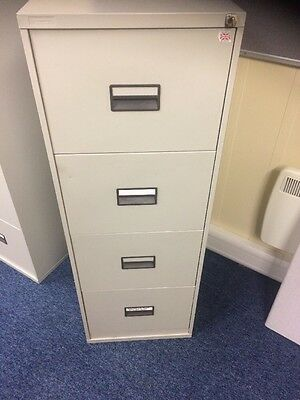 4 Drawer Grey Filing Cabinet With Key