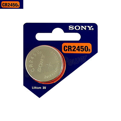 1 x SONY Lithium CR2450 battery 3V Coin Cell DL2450 Remote Watch EXP:2025