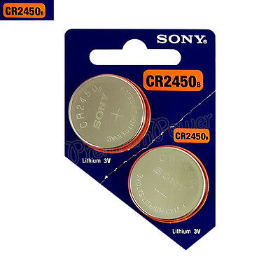 2 x SONY Lithium CR2450 batteries 3V Coin Cell DL2450 Remote Watch EXP:2025