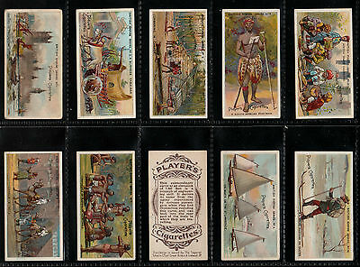 "Players 1904 Superb ( Exploration ) Full 50 Card Set  "" British Empire Series """