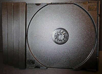 4 Black Trays  for CD Jewel Cases for Standard Size  (10mm thick) case