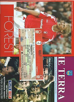 2005 Notts Forest v Weymouth &Weymouth v Notts Forest (FAC) +unused ticket