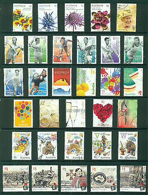 AUSTRALIA 2016 Fine Used $1 sheet stamps (47 stamps)