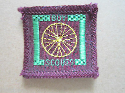 Dispatch Rider Proficiency Woven Cloth Patch Badge Boy Scouts Scouting