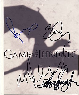 Game of Thrones Autograph Signed 10x8 Photo [1376] Signed by 4