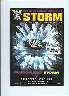 97/98 Manchester Storm v Sheffield Steelers Chall Cup Mint