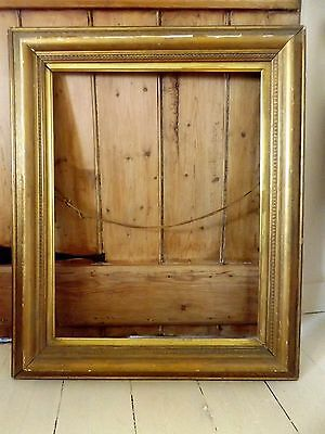 Large antique Victorian wood and gesso gilded picture frame
