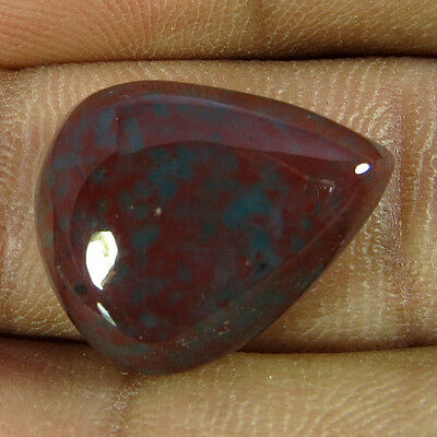 12.75Cts Natural Designer Attractive Blood Stone Pear Cabochon Loose Gemstone