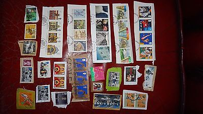 Selection Of High Value Commemoratives Used Gb Stamps On Paper Good Condition