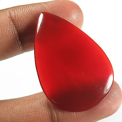 Wonderful 30.90 Cts Natural CARNELIAN Big Gemstone Pear Cabochon 38x25 mm Trader