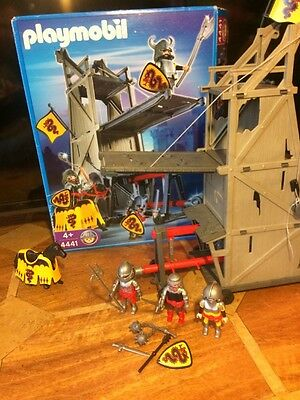 Playmobil set 4441 boxed attack tower knights