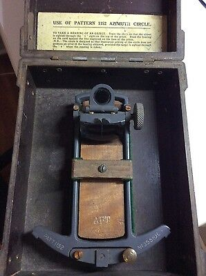 Ancien Azimuth Circle 1152 Us Wwii Sexant Instrument Navigation Objet Marine