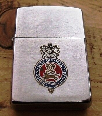 1987 The Queen's Own Hussars Zippo Lighter