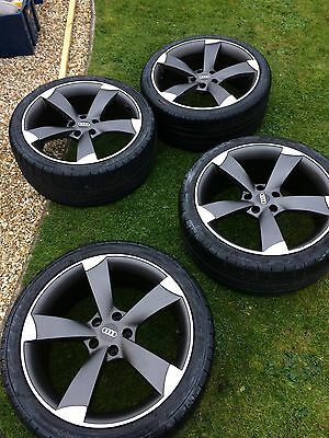 """19"""" Rotor style wheels with tyres 5 x 112"""