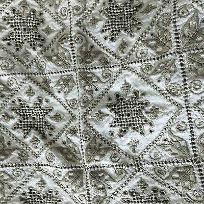 Beautiful antique lace table runner and table square