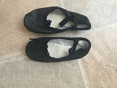 Black Leather Ballet Shoes Size 9 And A Half