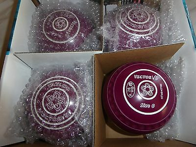 THOMAS TAYLOR VECTOR Vs SIZE 0 PLUM GRIPPED HEAVY  BOWLS